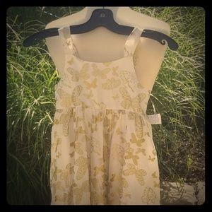 H & M Gold Butterfly Dress